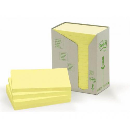 POST-IT 655 ekologinen keltainen 76x127mm