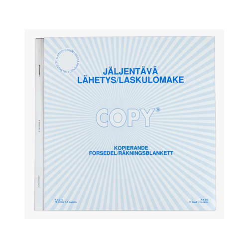Copy 375 lähetys/lasku 20 x21cm jäljentävä 1-5kopio