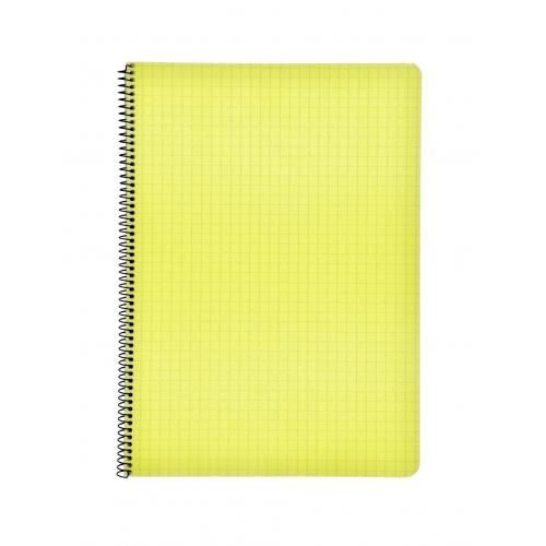 Kierrevihko A4/80 muovikantinen keltainen