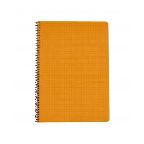 Kierrevihko A4/80 muovikantinen oranssi