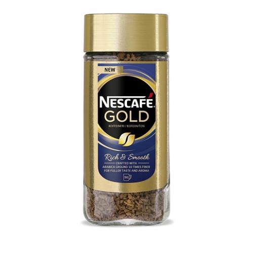 Pikakahvi Nescafé Gold 100g kofeiiniton (12kpl/pkt)