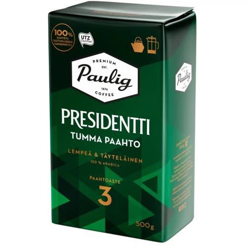 Kahvi Pesidentti 500 g tumma paahto PJ