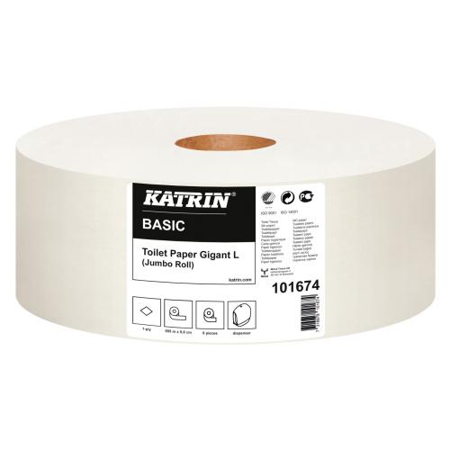 KATRIN Basic Gigant L wc-paperi 6 rll/sk