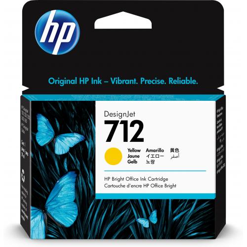 HP 712 29-ml Yellow DesignJet Ink Cartridge