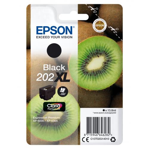 EPSON Singlepack Black 202XL Kiwi Clara Premium Ink