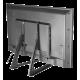DELTACO näytön pöytäteline, 23″ - 70″, korkeintaan 50 kg, korkeuden säätö, VESA-kiinnitys, musta