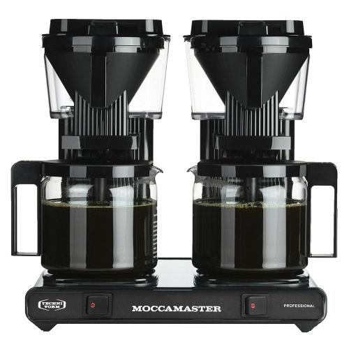 Moccamaster tupla-kahvinkeitin teräs-musta