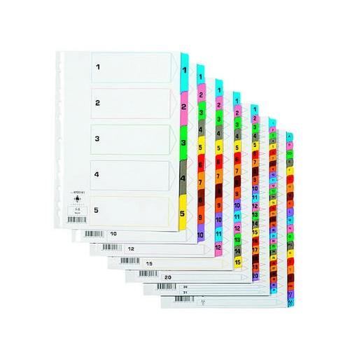 Q-Connect A-Ö A4 muovikielihakemisto värilajitelma(15kpl/ltk)