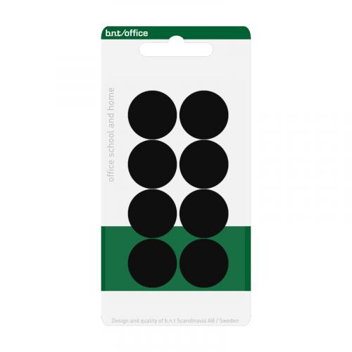 BNT magneettinappi 20mm musta 8kpl/pkt