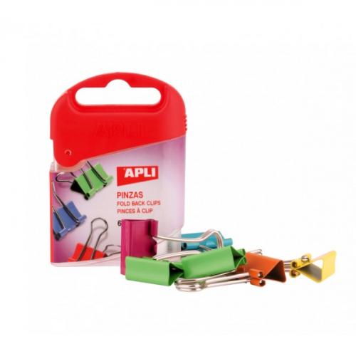 APLI paperipuristin, 19mm 6kpl/rasia värillinen