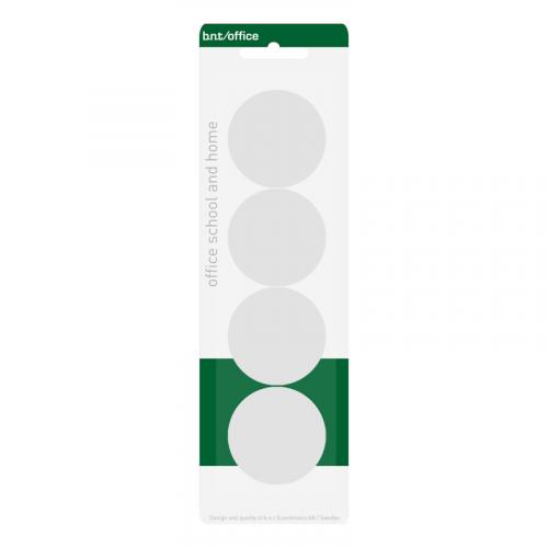 BNT magneettinappi 40mm, valkoinen 4kpl/pkt