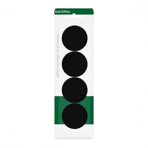 BNT magneettinappi 40mm musta 4kpl/pkt