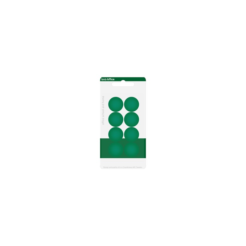 BNT magneettinappi 20mm vihreä 8kpl/pkt