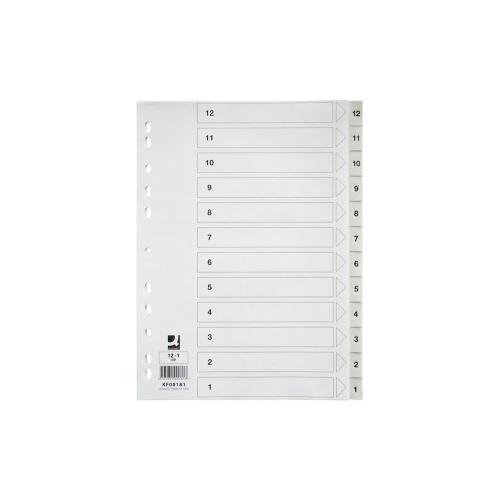 Välilehti 12-1 muovi A4 valkoinen 0.12PP(40srj/ltk)