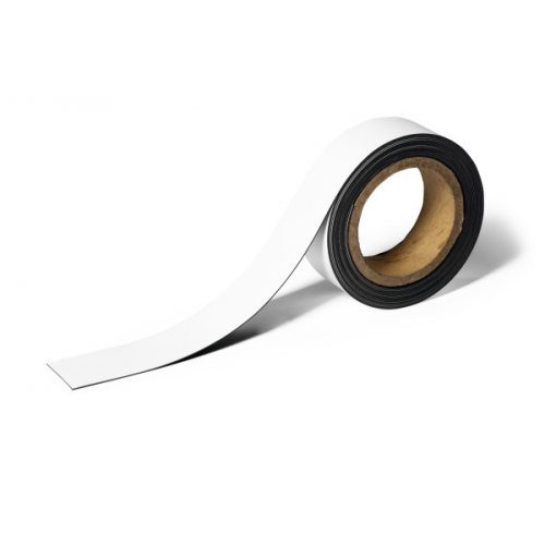 Durable hyllylista 4x500 cm magneetilla, valkoinen