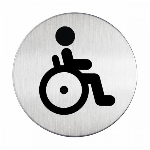 DURABLE Opastekyltti WC-pyörätuoli pyöreä 83mm