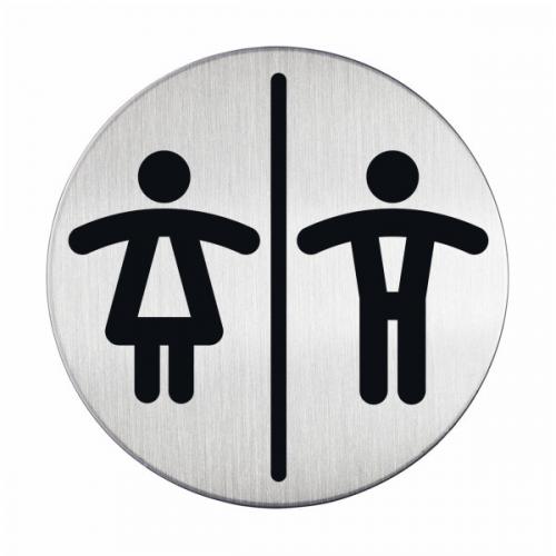 DURABLE Opastekyltti WC-unisex pyöreä 83mm