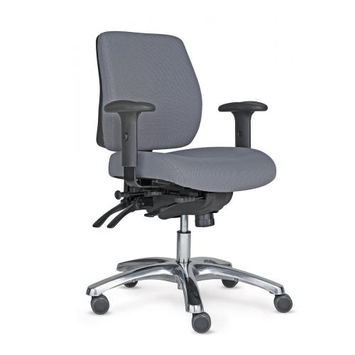 PRO 20 tuoli harmaa, puolikorkea selkänoja,käsinojat