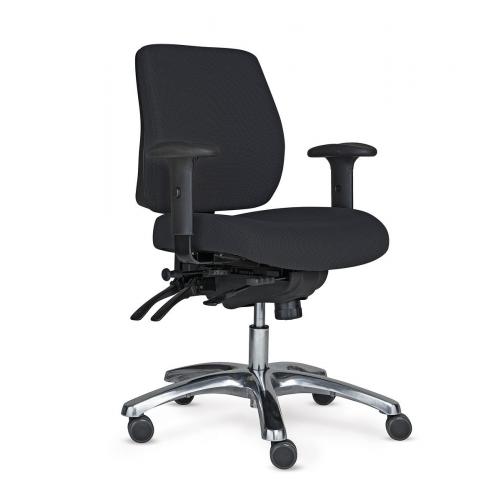 PRO 20 tuoli musta, puolikorkea selkänoja,käsinojat
