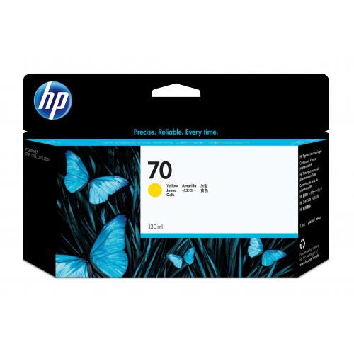 HP C9454A no 70 mustepatruuna yellow ink 130ml Vivera Designjet Z2100/3100