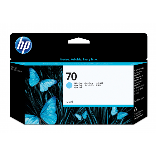 HP C9390A no 70 mustepatruuna cyan light 130ml Vivera Designjet Z2100/3100