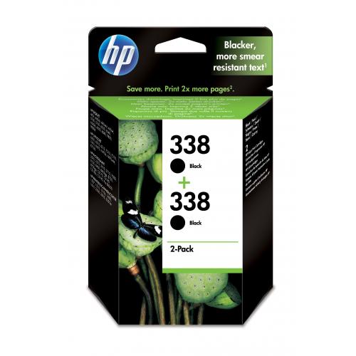 HP 338 ink Black vivera 2-PACK