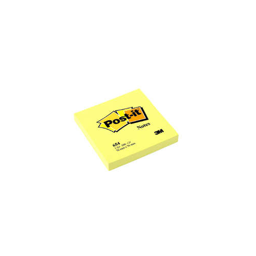 POST-IT 654 viestilappu keltainen 76x76mm