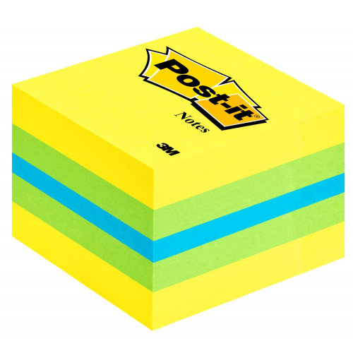 Post-it 2051L viestilappukuutio lemon mini 51x51mm 400 lappua