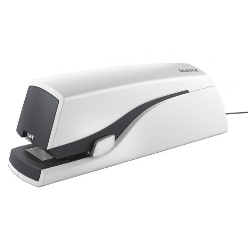 Leitz 5533 sähkönitoja valkoinen nitoo 20-arkkia 24/6- 26/6- E2-nasta