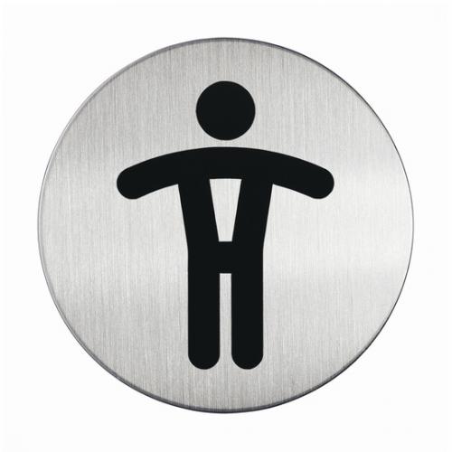 Durable Opastekyltti WC-Miehet pyöreä 83mm