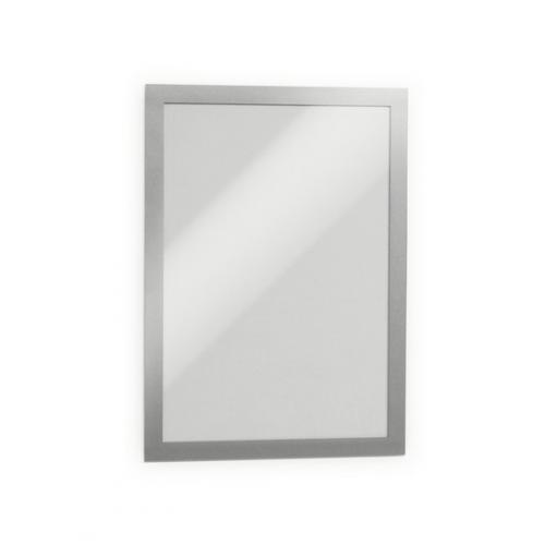 DURABLE Duraframe magneettikehys A4 hopea tarratausta 2kpl/pss
