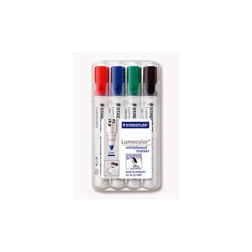 STAEDTLER 351BW4 valkotaultutussi 4-värin sarja viisto 2-5mm