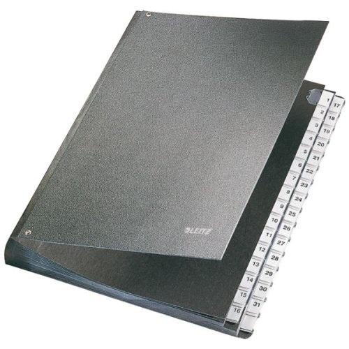 Leitz esijärjestin 1-31 kartonki musta