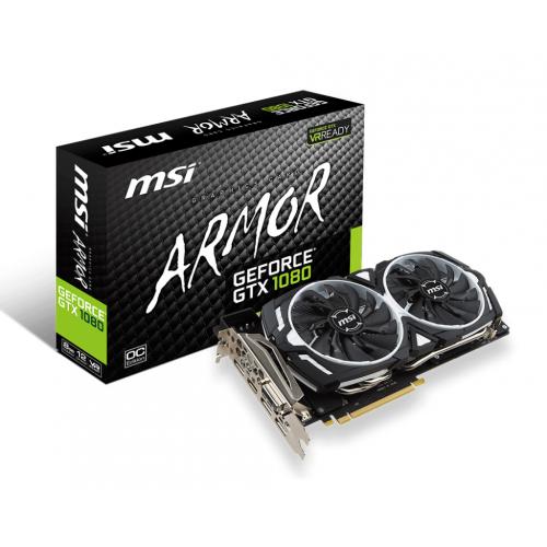 MSI GTX 1080 ARMOR 8G OC 8GB GDDR5 (256Mx32bit) 256bit HDMI DL DVI-D 3xDisplayPort