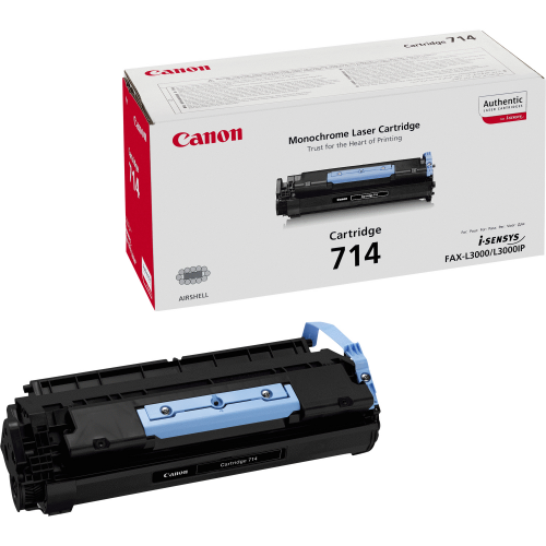 CANON CRG-714 cartridge Black I-Sensys FAX L3000 L3000IP