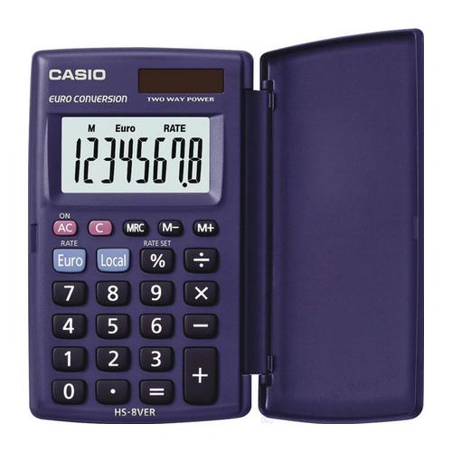 CASIO HS-8VER euro 8-numeroinen taskulaskin