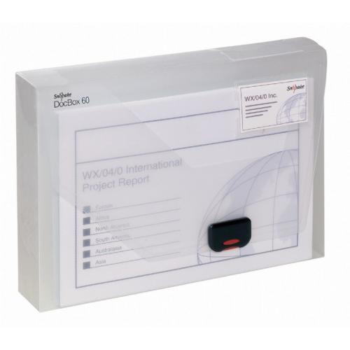 DocBox A4 60mm kirkas muovi arkistolaatikko