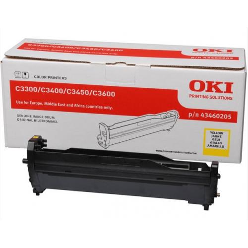 OKI C3300/3400 Rumpu Yellow, 15K, 43460205 (C3400, C3450, C3600)
