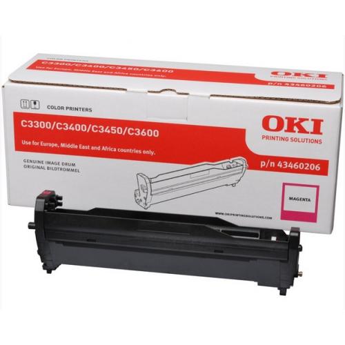 OKI C3300/3400 Rumpu Magenta, 15K, 43460206 (C3400, C3450, C3600)