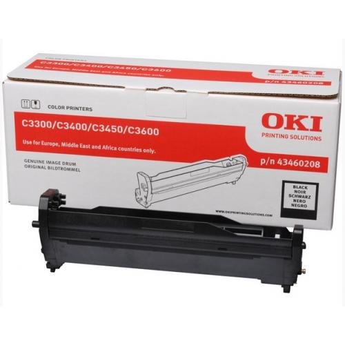 OKI C3300/3400 Rumpu Black, 15K, 43460208 (C3400, C3450, C3600)