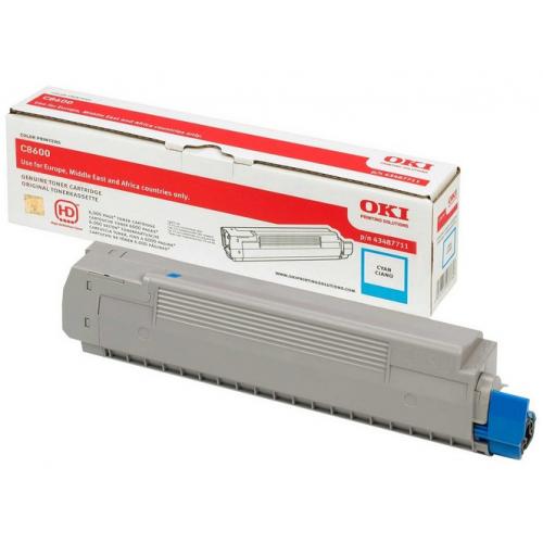 OKI C8600 Toner Cyan 43487711 6K (C8800)