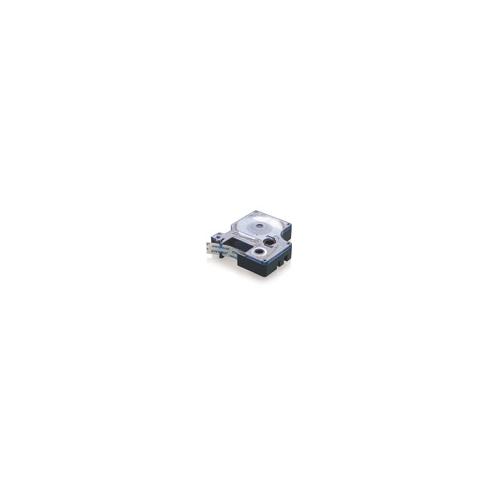 Dymo 12mm x 5,5m valkoinen/musta teksti polyesteriteippi pysyvä 16959