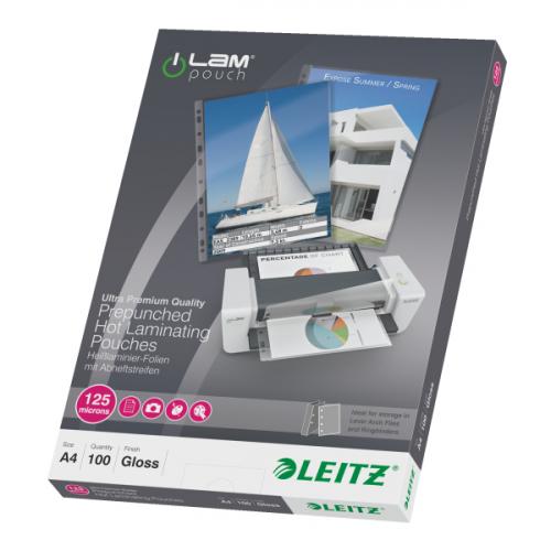 LEITZ kuumalaminointitasku A4 REI′ITETTY, 125mic