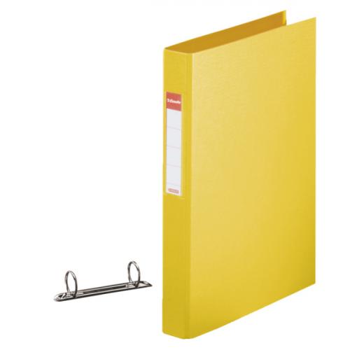 Esselte rengaskansio keltainen A4, 190arkkia, PP selkä 42mm, 2-renkainen halkaisija 25mm (10kpl ltk