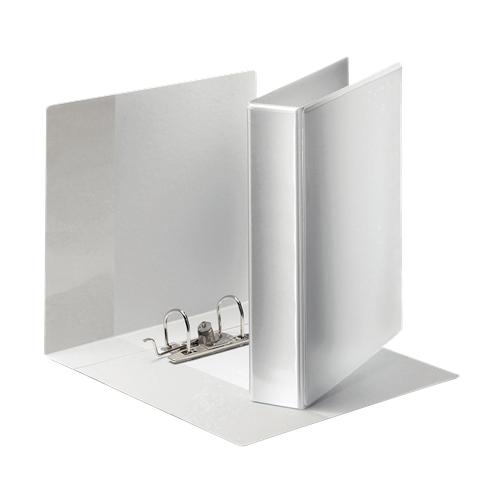 Esselte esityskansio A4+ 50mm valkoinen 350arkkia PP mappimekanismilla kolmella ulko-ja sisätaskulla