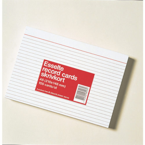 Merkintäkortti A5 100kpl pak Nro4