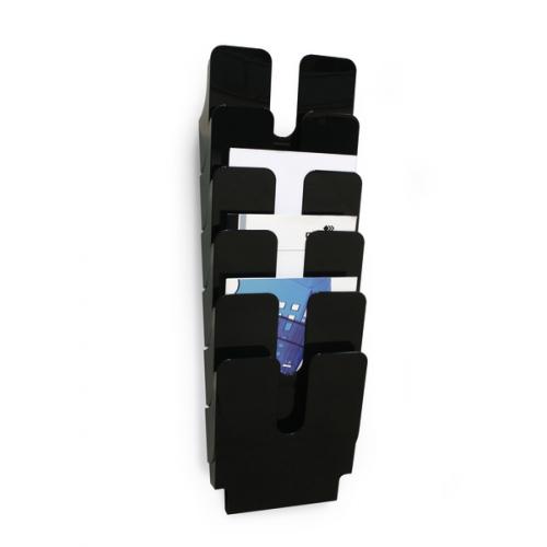 Durable FlexiPlus A4 6-osainen musta pysty seinäesiteteline