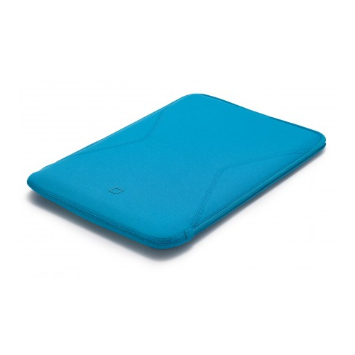 Dicota Tab Case 10 Cyan, neopreneenistä vamistettu kotelo tableteille 10″ asti, tasku kaapeleille la