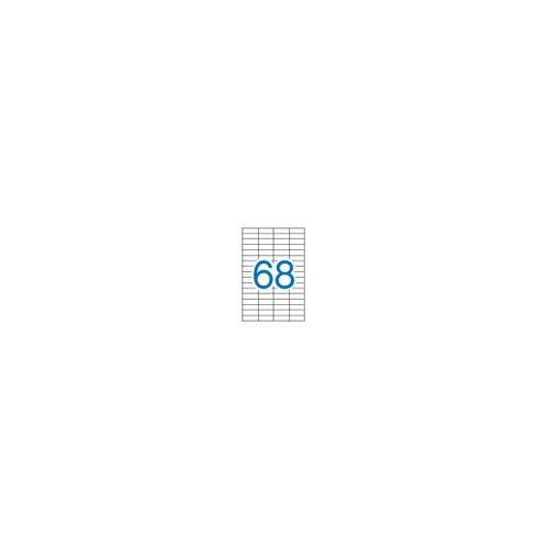 Apli 1282 valkoinen 16.9x48.5mm 68-jak tulostustarra 100kpl pkt (5pkt ltk)