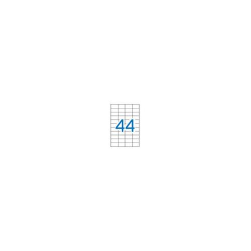 Apli 1285 valkoinen 25,4x48,5mm 44-jak tulostustarra 100kpl/pkt (5pkt/ltk)
